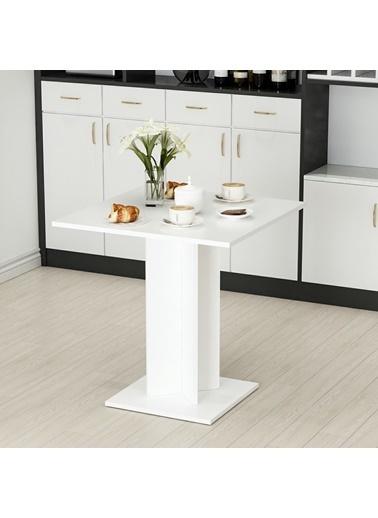 Minar Mobilya Xeon Yemek Masası 72X72 - Beyaz Beyaz